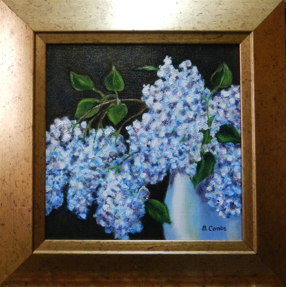 """Lilacs"" original fine art by Bebe Combs"