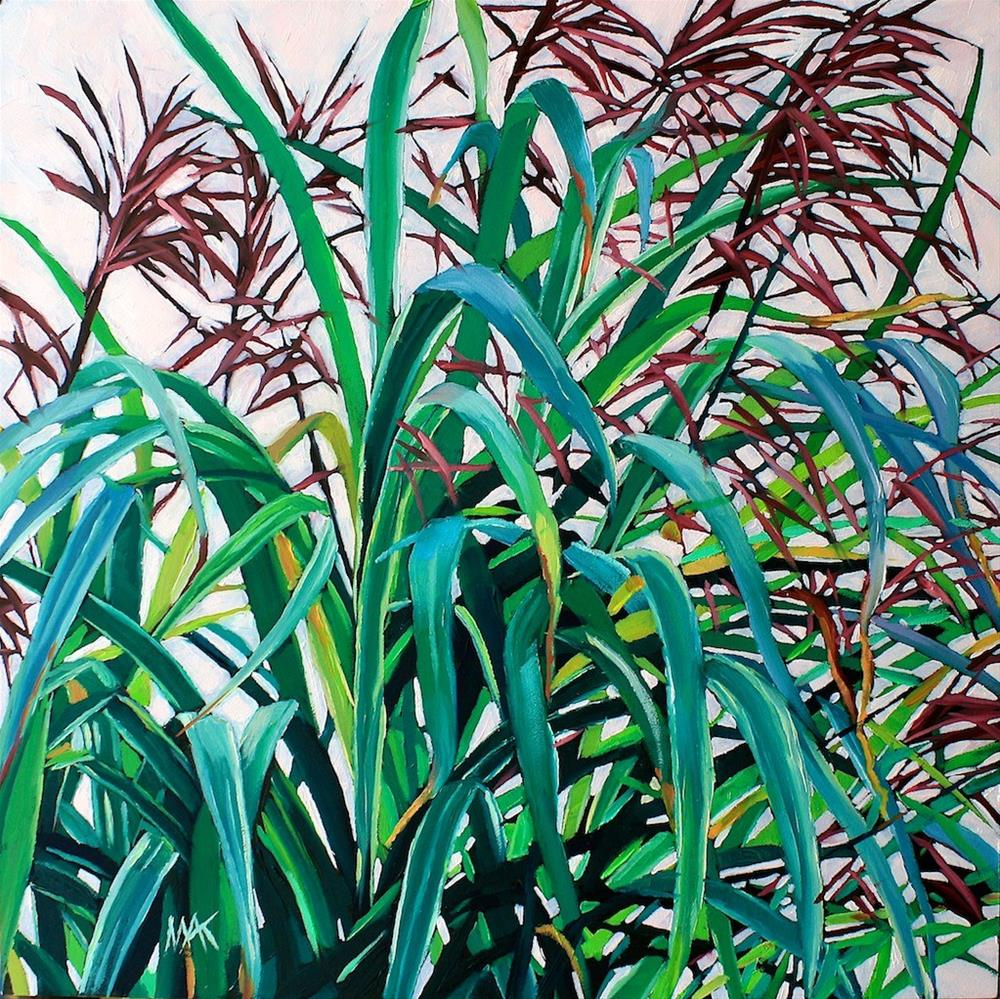 """""""Grass Poetry"""" original fine art by Mary Anne Cary"""