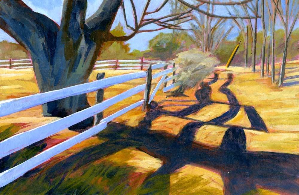 """""""Green Acres"""" original fine art by Eileen Hennemann"""