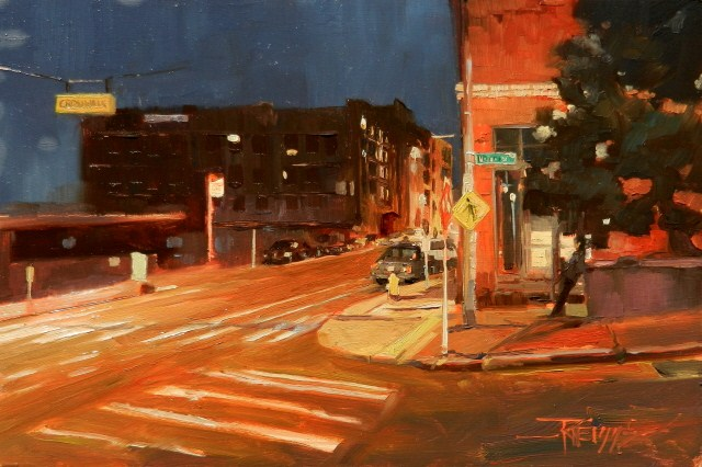 """""""Crossing Union  Seattle cityscape oil painting by Robin Weiss"""" original fine art by Robin Weiss"""