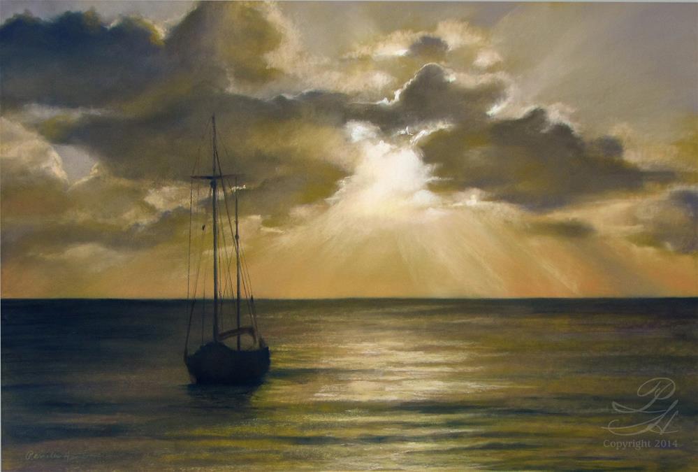 """Caribbean Nights"" original fine art by Pamela Hamilton"