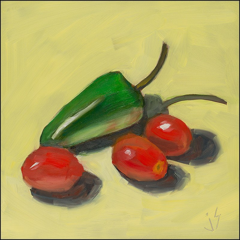 """Salsa Plan"" original fine art by Johnna Schelling"