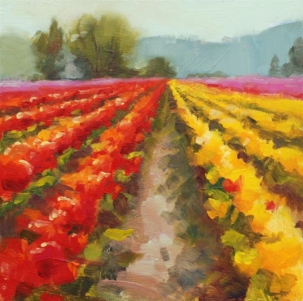 """No. 785 Sunny day with the Tulips 2"" original fine art by Susan McManamen"