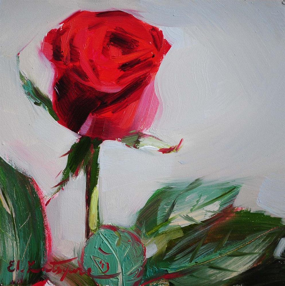 """Red Velvet"" original fine art by Elena Katsyura"