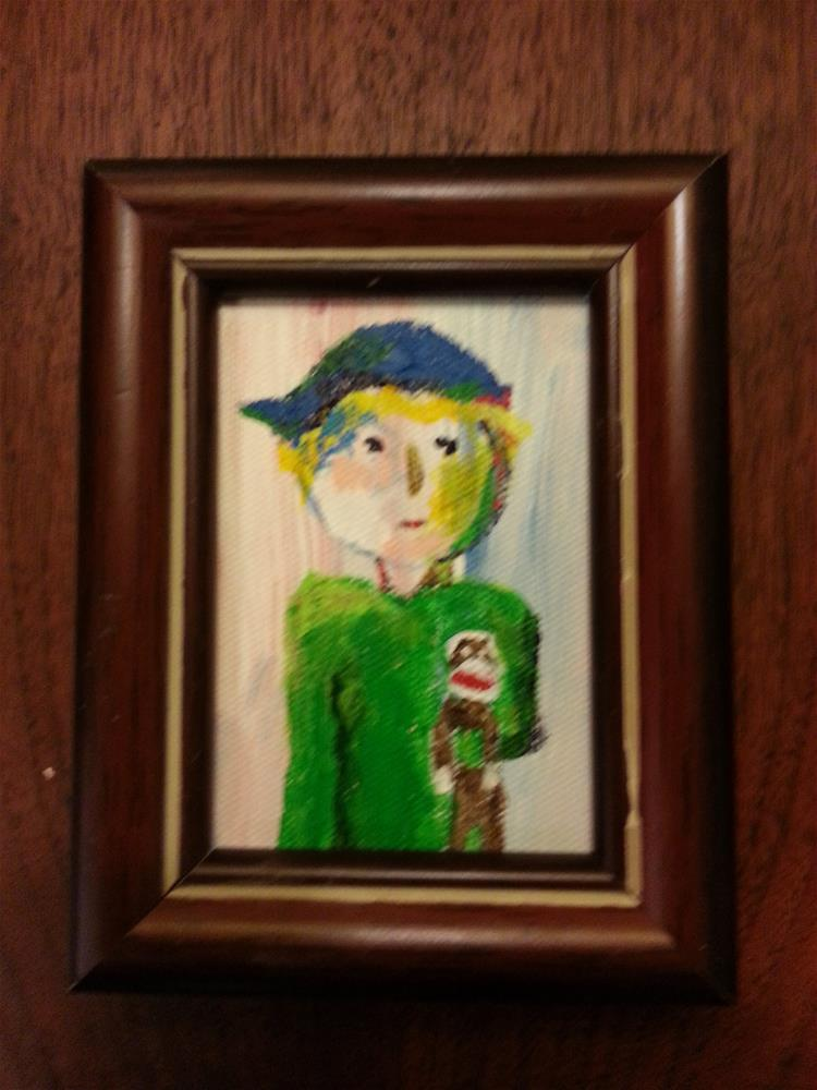 """Mini Marcie's Little Brother"" original fine art by Jo Allebach"