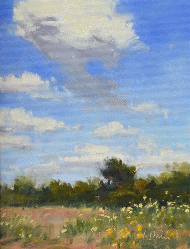 """Scattered Clouds Study"" original fine art by Laurel Daniel"