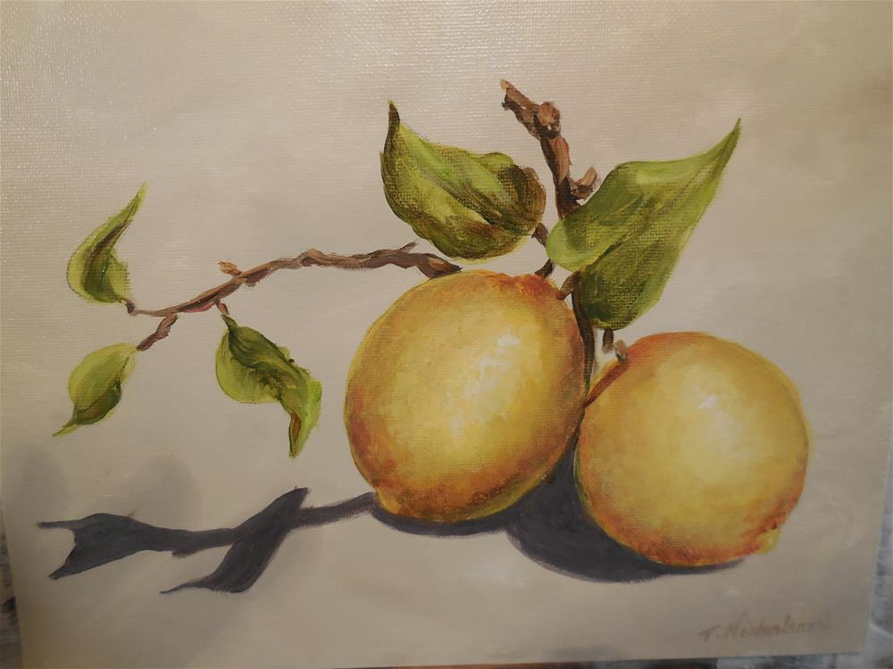 """Lemons"" original fine art by Terri Nicholson"