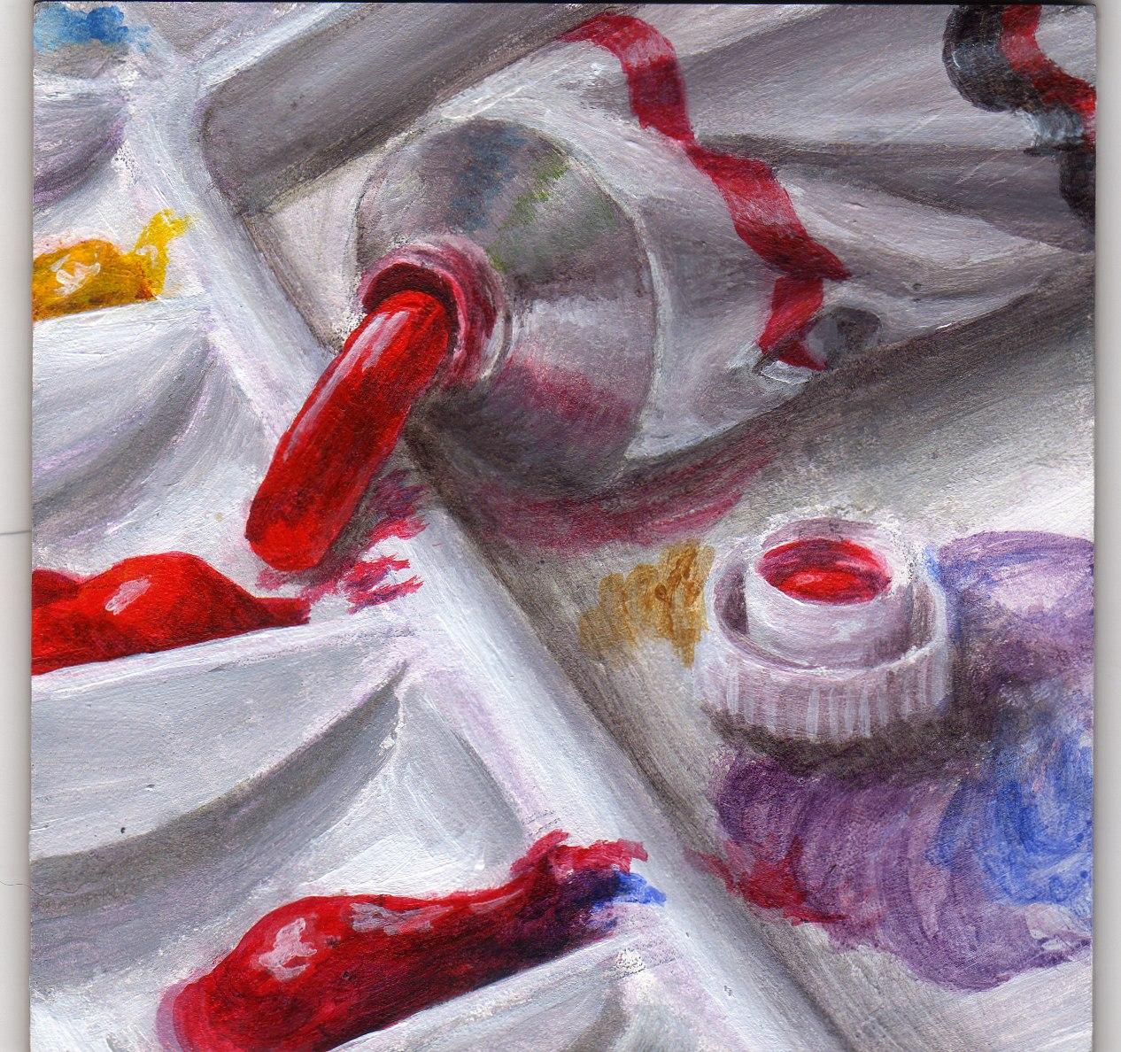 """""""Work in Progress"""" original fine art by Debbie Shirley"""
