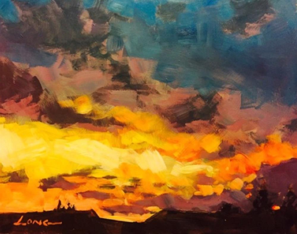 """Belle Chasse"" original fine art by Chris Long"