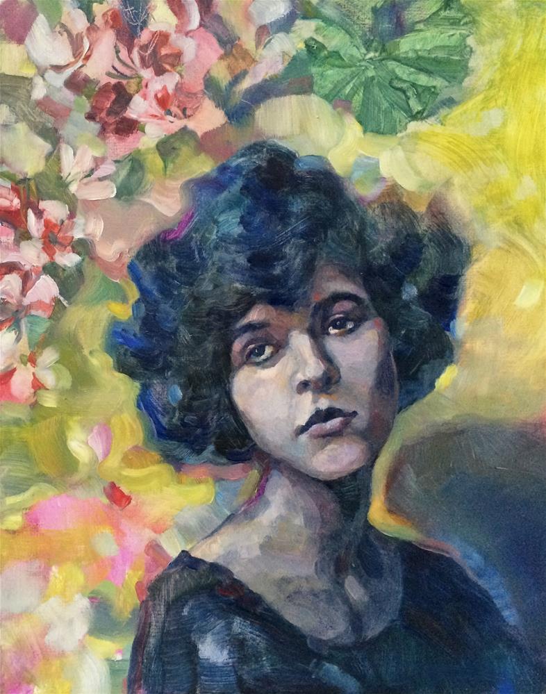 """Faces: Nostalgia"" original fine art by Nicoletta Baumeister"