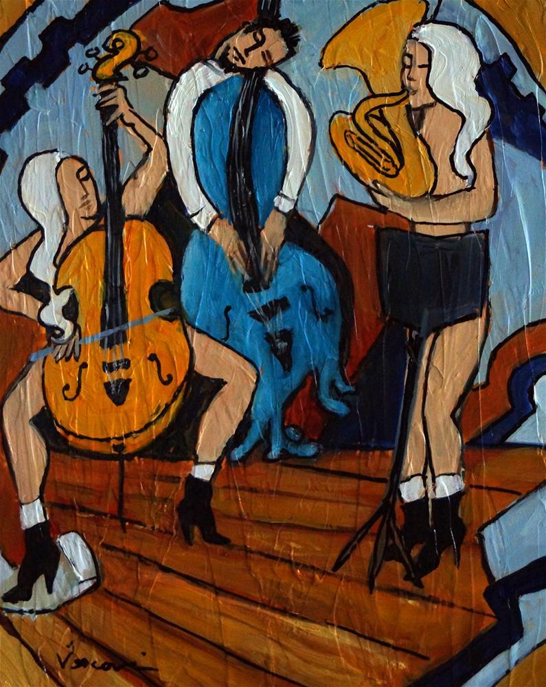 """""""Melting Jazz"""" original fine art by Valerie Vescovi"""