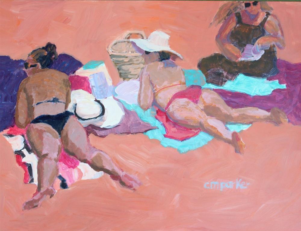 """Oh, Those Ladies 2"" original fine art by Christine Parker"