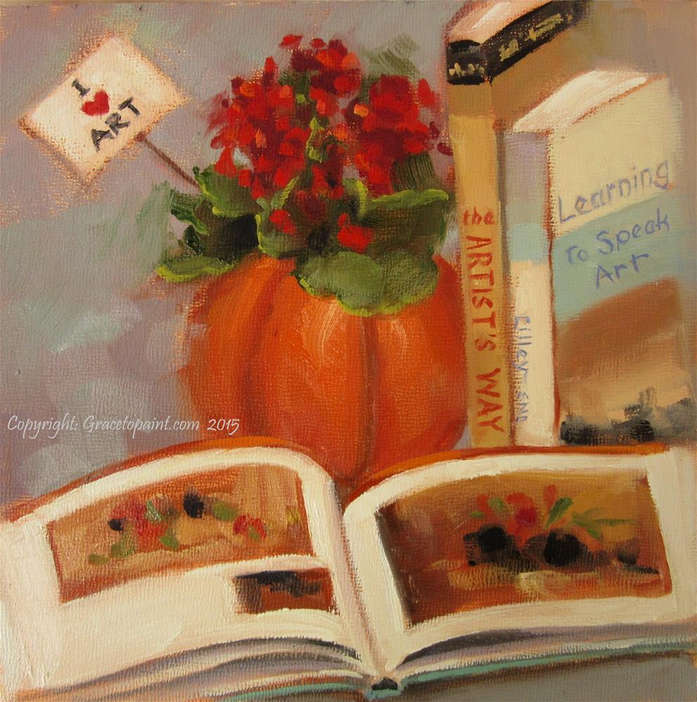 """""""I (Heart) Art"""" original fine art by Maresa Lilley"""
