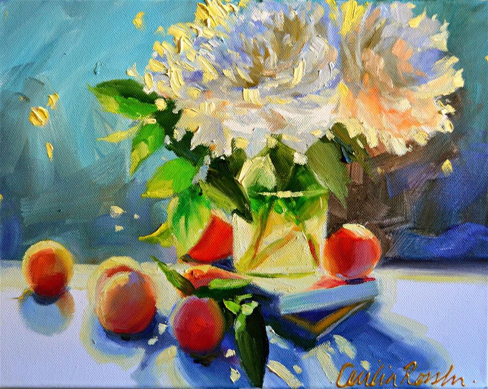 """CHRYSANTHEMUMS"" original fine art by Cecilia Rosslee"