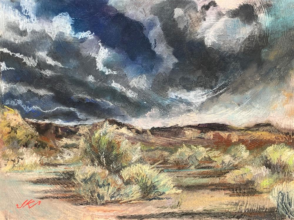 """""""By the Salt River, AZ"""" original fine art by Jean Krueger"""