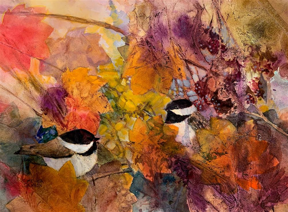 """Courtship in the Thicket"" original fine art by Melissa Gannon"