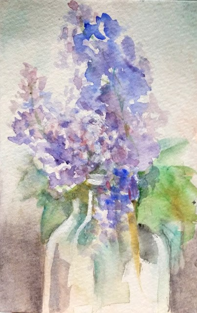 """Lilacs in the Spring"" original fine art by Wendy Starita"