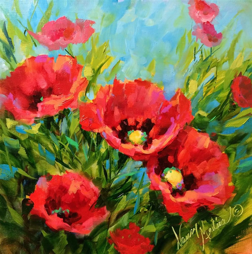 """Poppy Gardens"" original fine art by Nancy Medina"