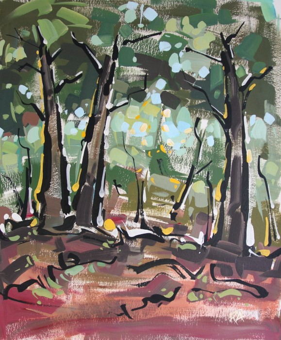 """Landscape Exploration 37"" original fine art by Roger Akesson"