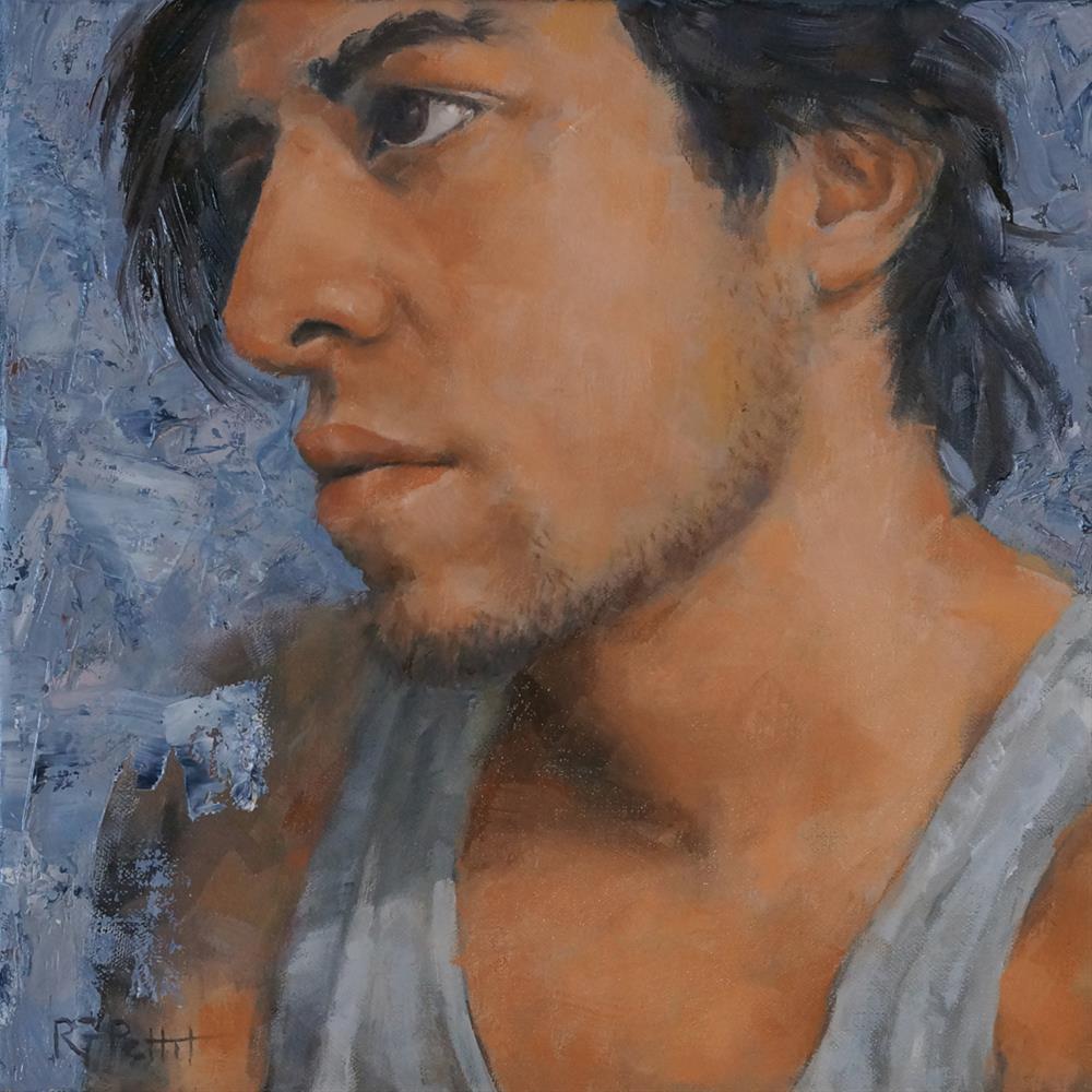 """""""Manuel"""" original fine art by Rhea Groepper Pettit"""