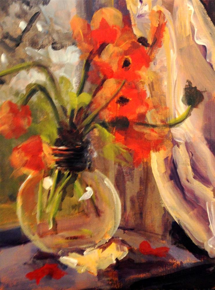 """Late Afternoon Poppies"" original fine art by Susan Elizabeth Jones"