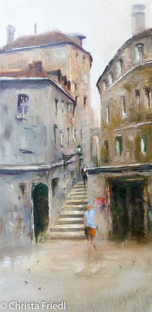 """Hafnersteig - Vienna"" original fine art by Christa Friedl"
