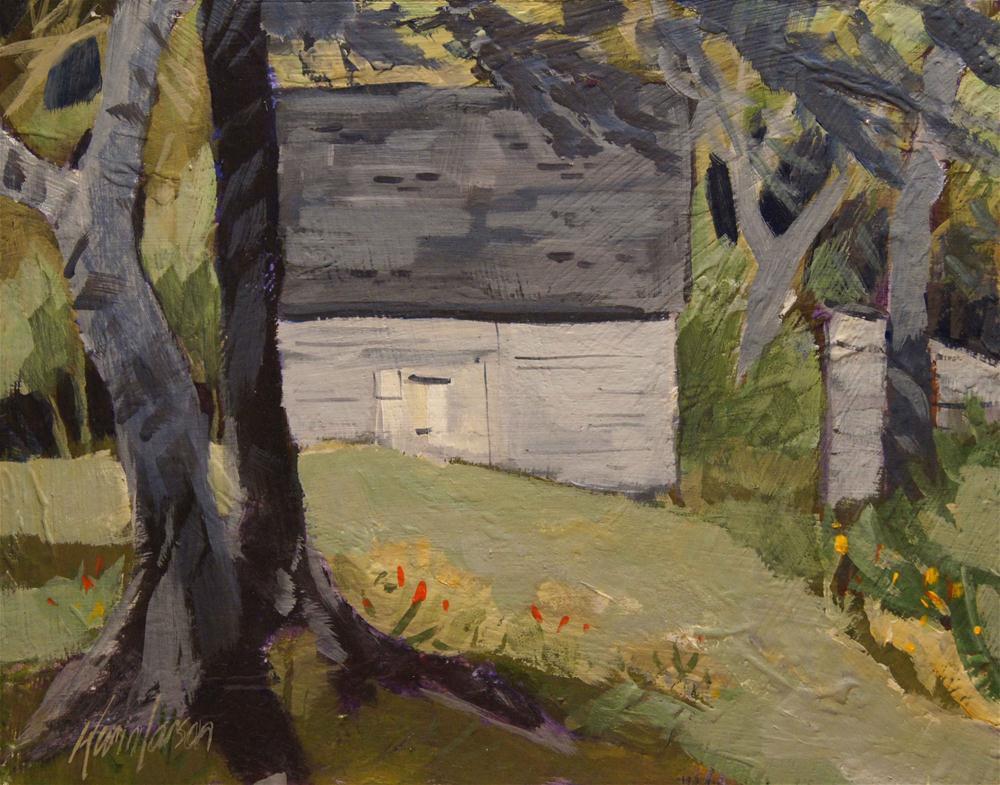 """Lake Barn"" original fine art by Kevin Larson"