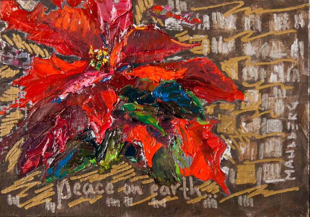 """Poinsettia Revised"" original fine art by Cynthia Mahlberg"