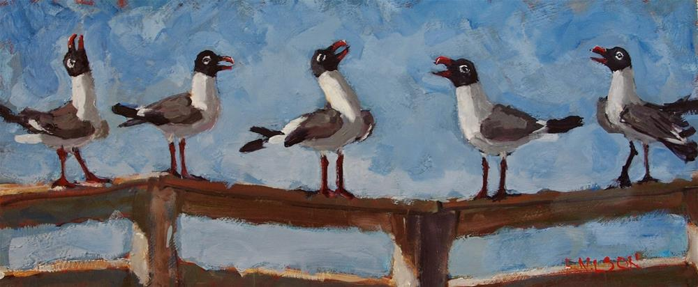 """In Committee"" original fine art by Rick Nilson"