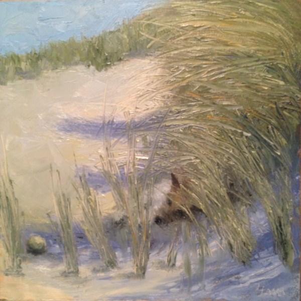 """Tired out"" original fine art by Lori L. Lamb"