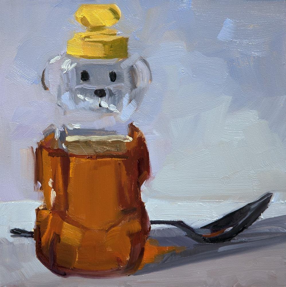 """Honey Bear"" original fine art by Miriam Hill"