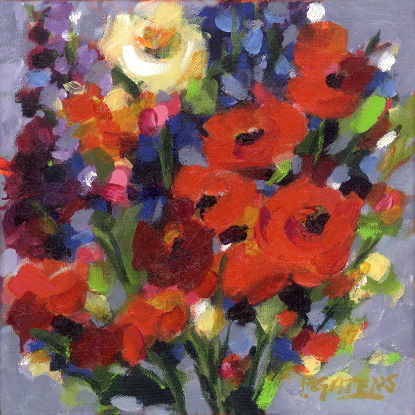 """Poppy Toss"" original fine art by Pamela Gatens"