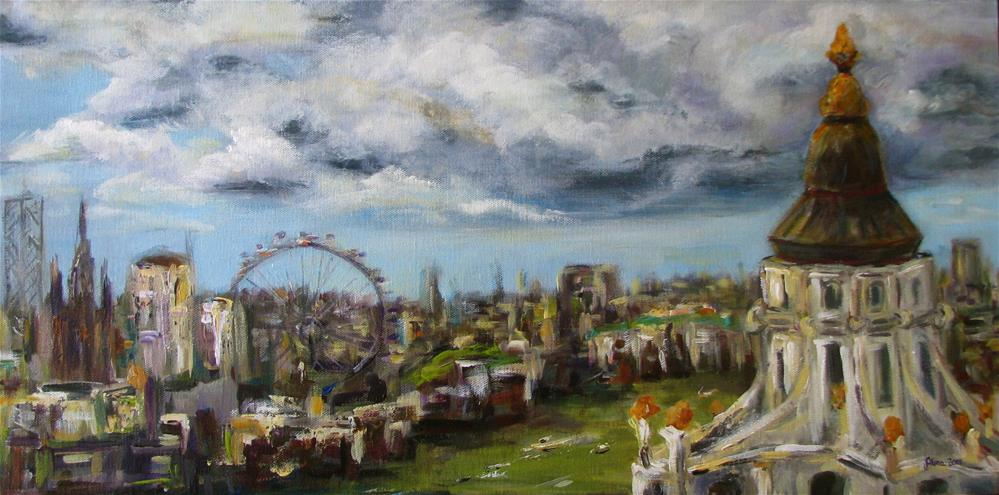 """London View"" original fine art by Alina Vidulescu"