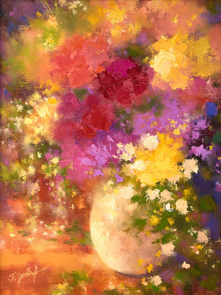 """Floral Portrait"" original fine art by Todd Zuithof"