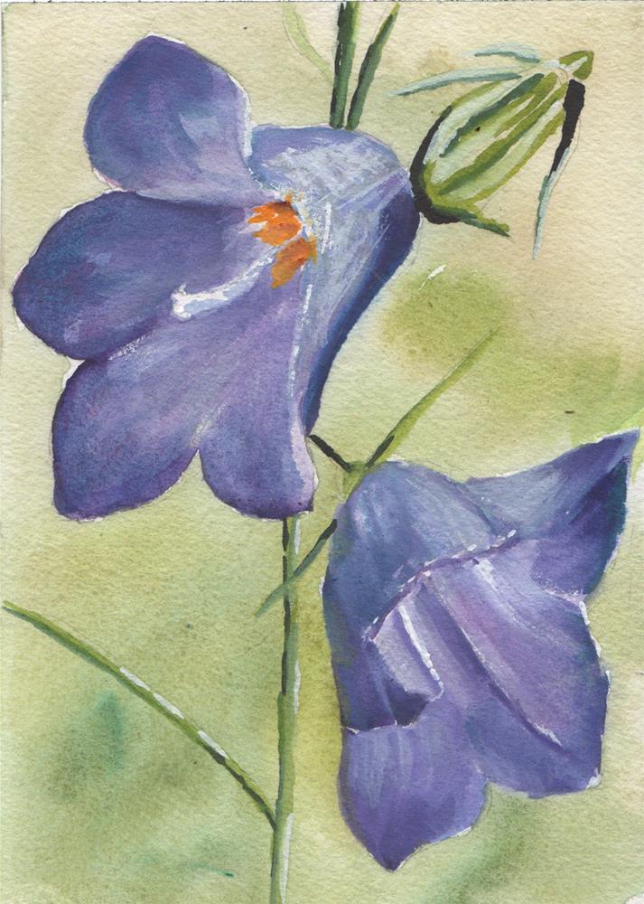 """ALPINE FLOWERS"" original fine art by Bunny Griffeth"