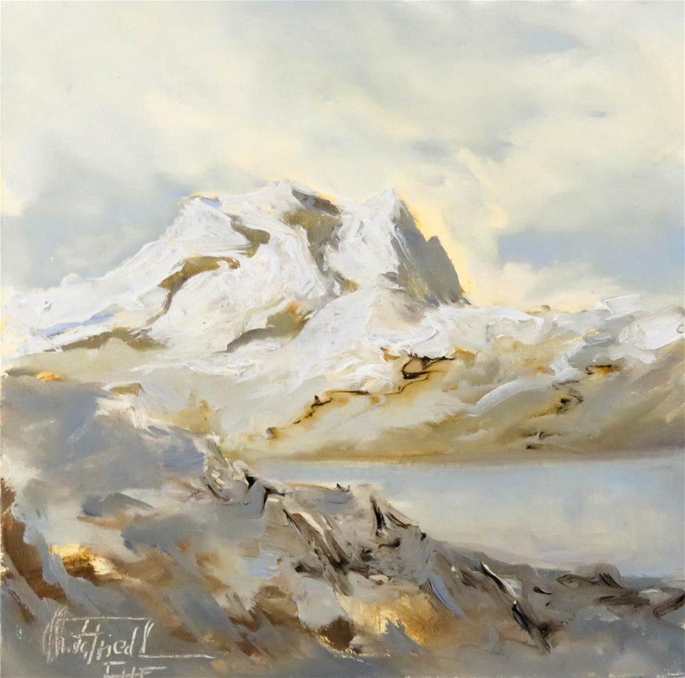 """Backlight in the Alps"" original fine art by Christa Friedl"
