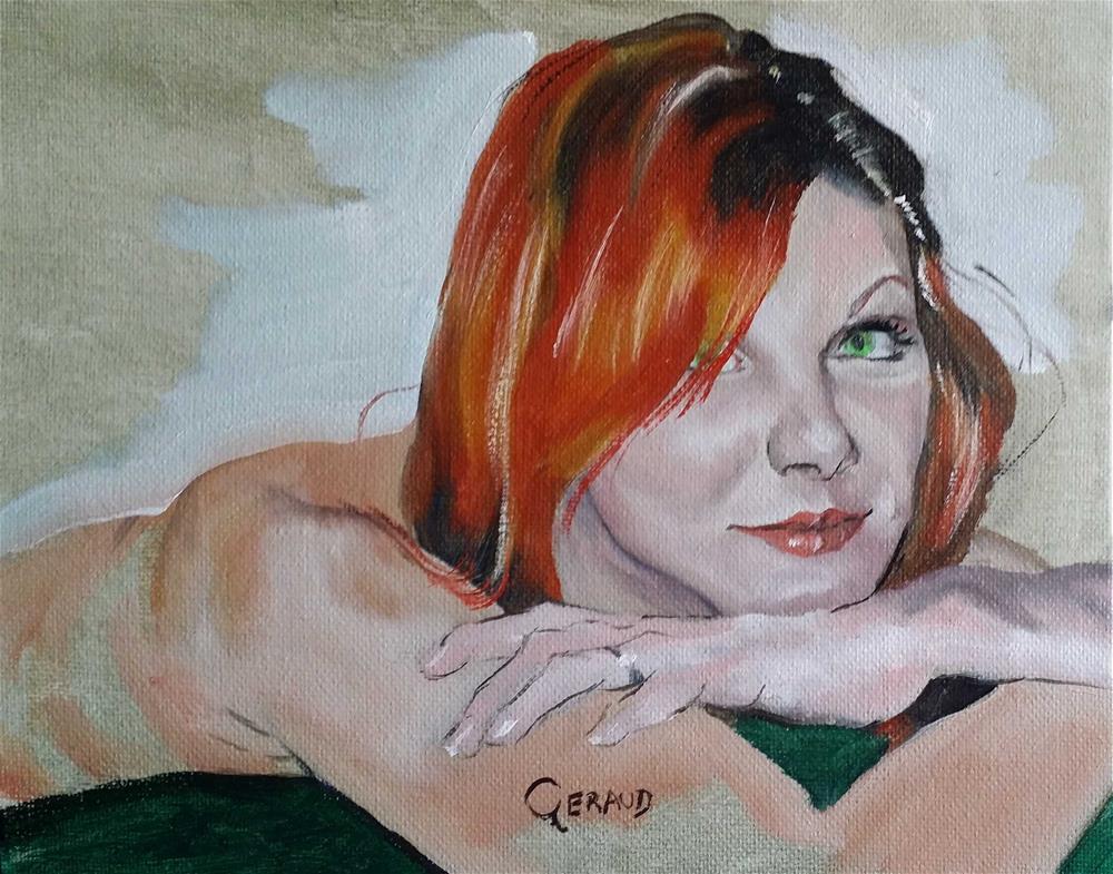 """""""Bobbie"""" original fine art by Geraud Staton"""
