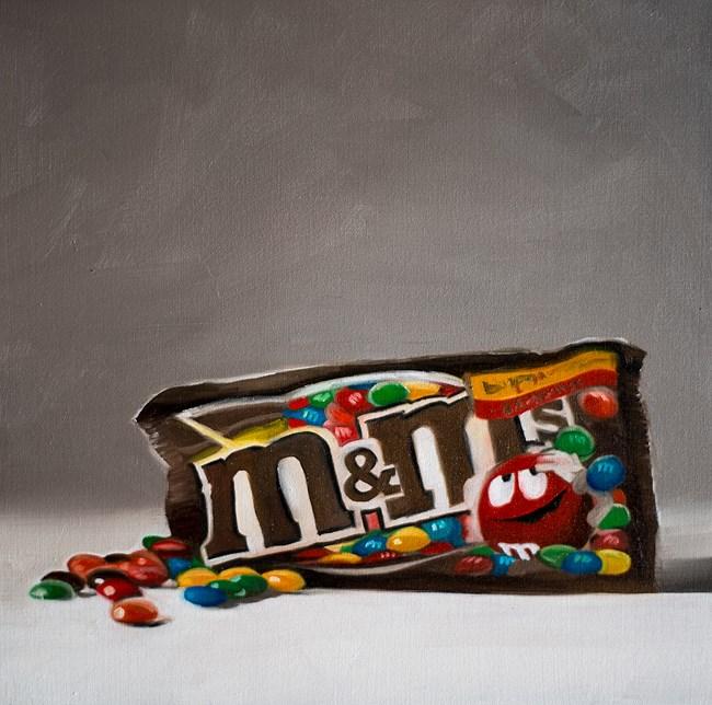 """""""Chocolate M&Ms"""" original fine art by Lauren Pretorius"""