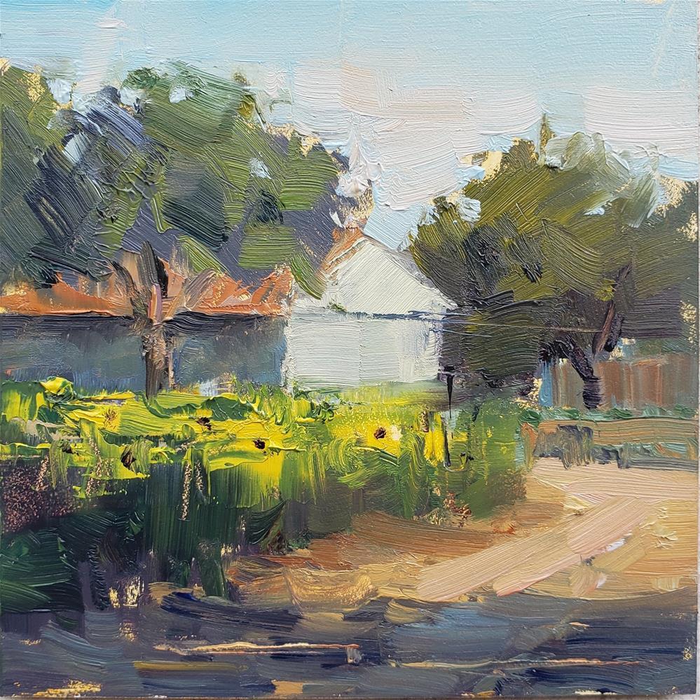 """Sunflower Farm"" original fine art by Barbie Smith"