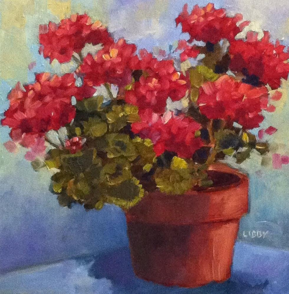 """My Own Little Corner"" original fine art by Libby Anderson"