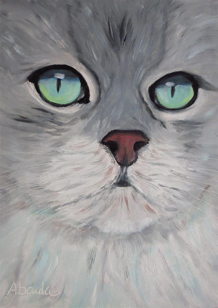 """Green Eyes"" original fine art by Sandy Abouda"