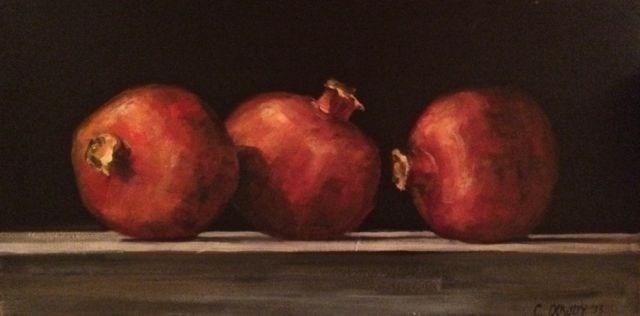 """""""Pomegranates"""" original fine art by Christina Dowdy"""