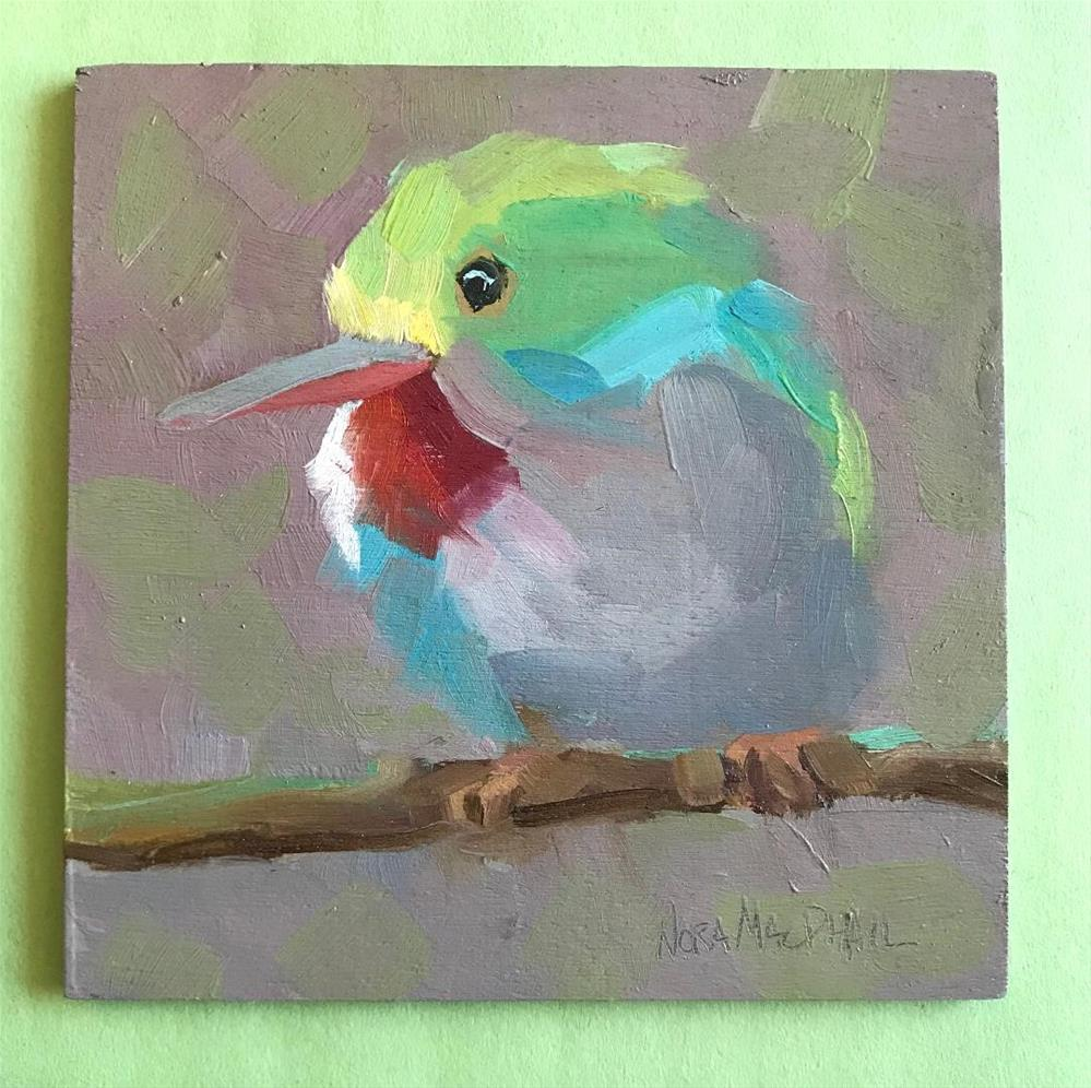 """Tody - mini 1"" original fine art by Nora MacPhail"