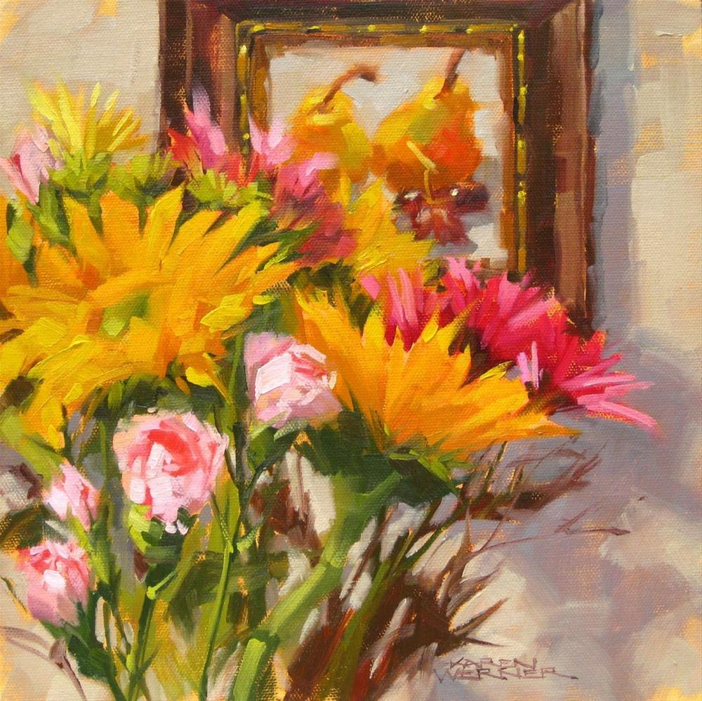 """Studio Flowers 3"" original fine art by Karen Werner"