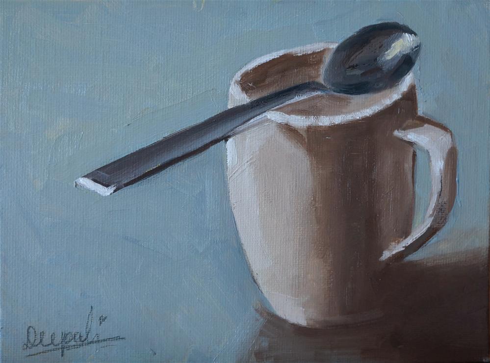 """cup and spoon"" original fine art by Dipali Rabadiya"