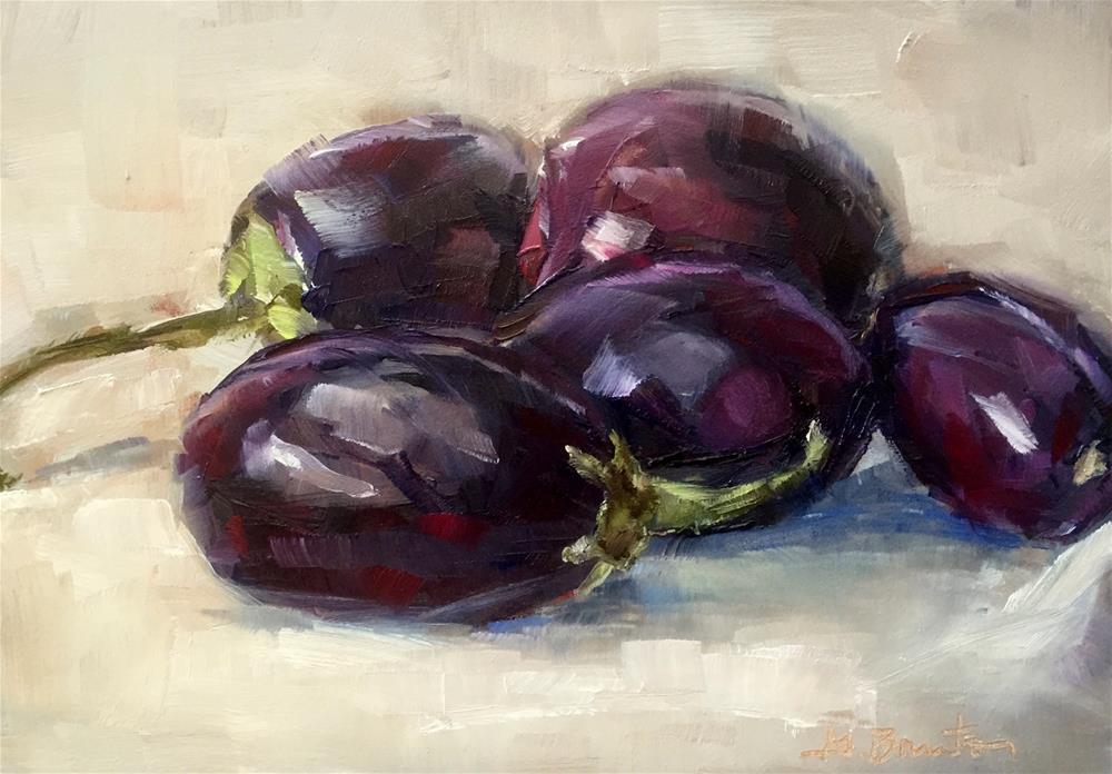 """Chinese Eggplants"" original fine art by Gary Bruton"