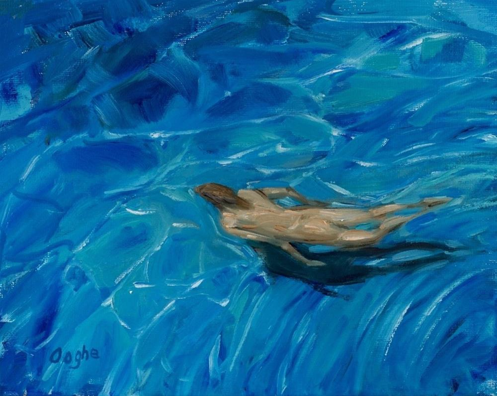 """Swimmer"" original fine art by Angela Ooghe"