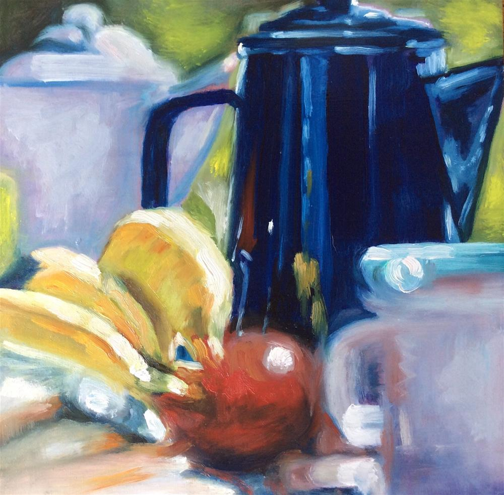 """Brunch on Sunday"" original fine art by Sonja Neumann"