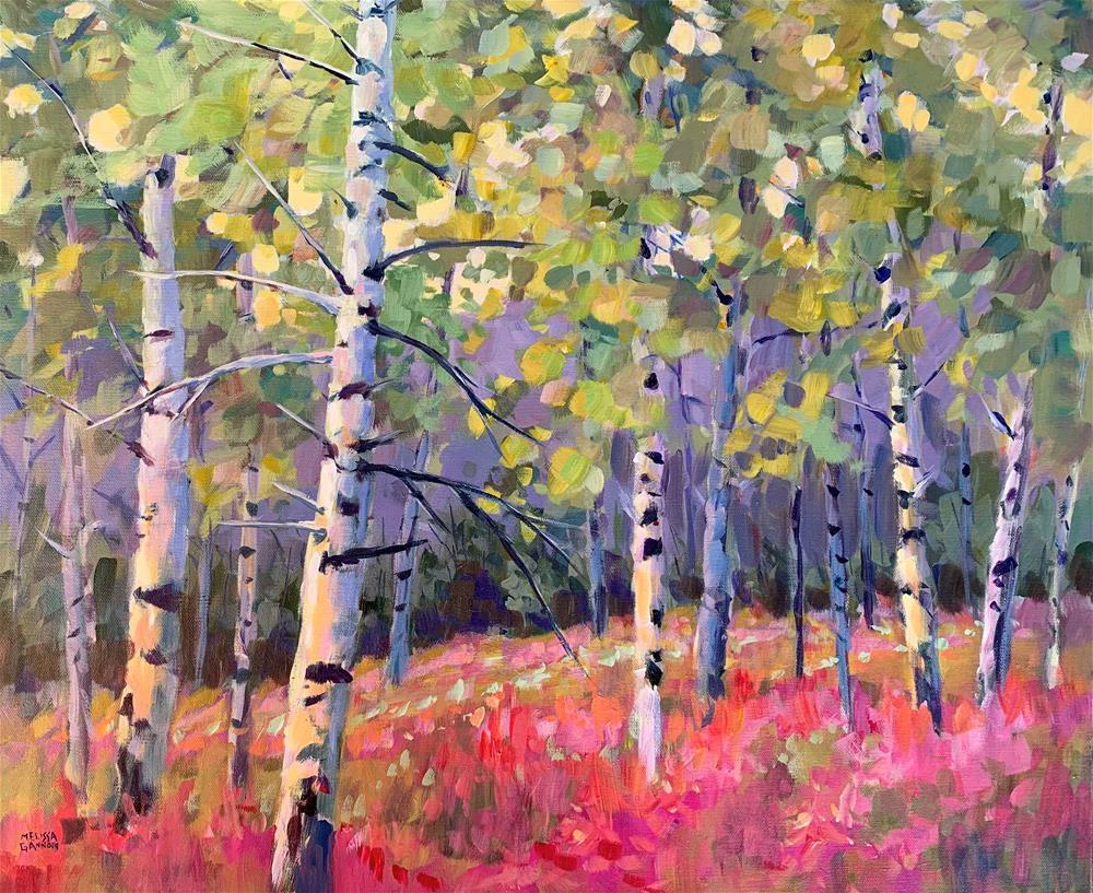 """Fireweed Dance"" original fine art by Melissa Gannon"