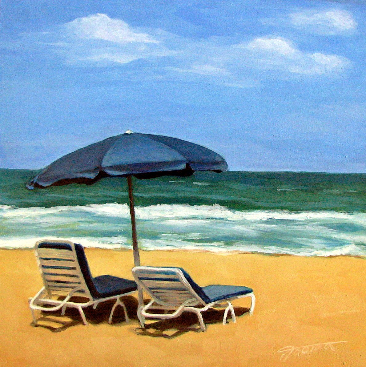 """Ocean's Breeze"" original fine art by Joanna Bingham"